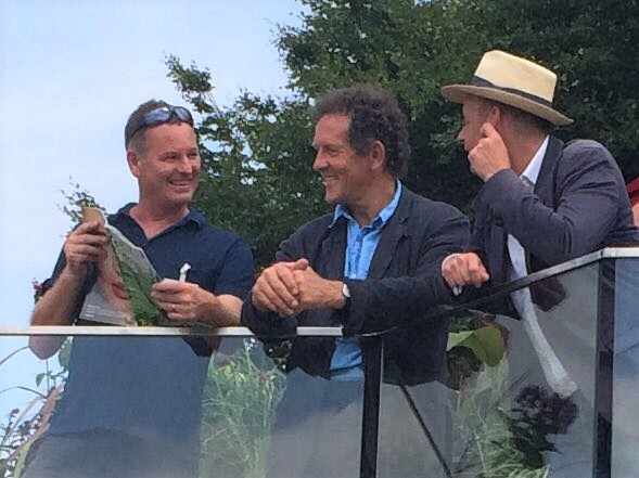 Dan with Monty Don & Joe Swift, RHS Tatton 2017