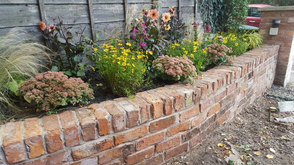 walls and raised bed
