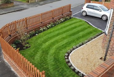 New lawn and fencing