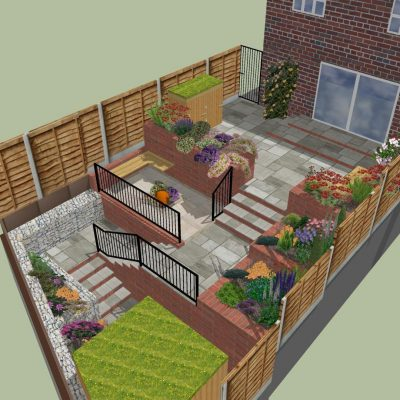 Multi-tiered garden, HEATON MERSEY