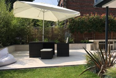 Contemporary family garden Heaton Moor