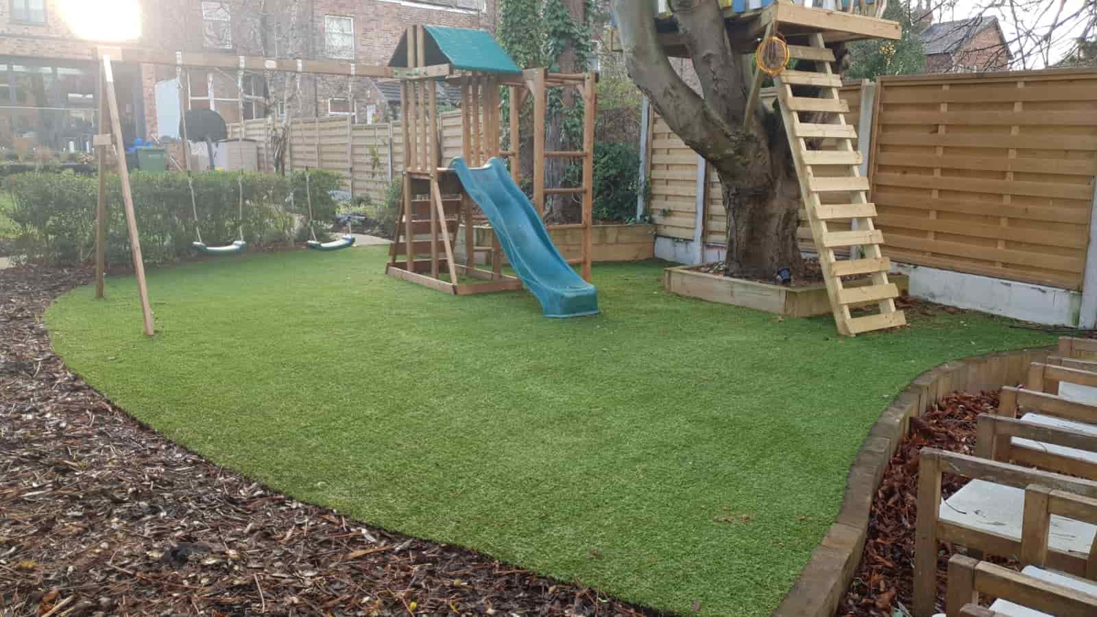 artificial grass playground manchester dreamscape gardens