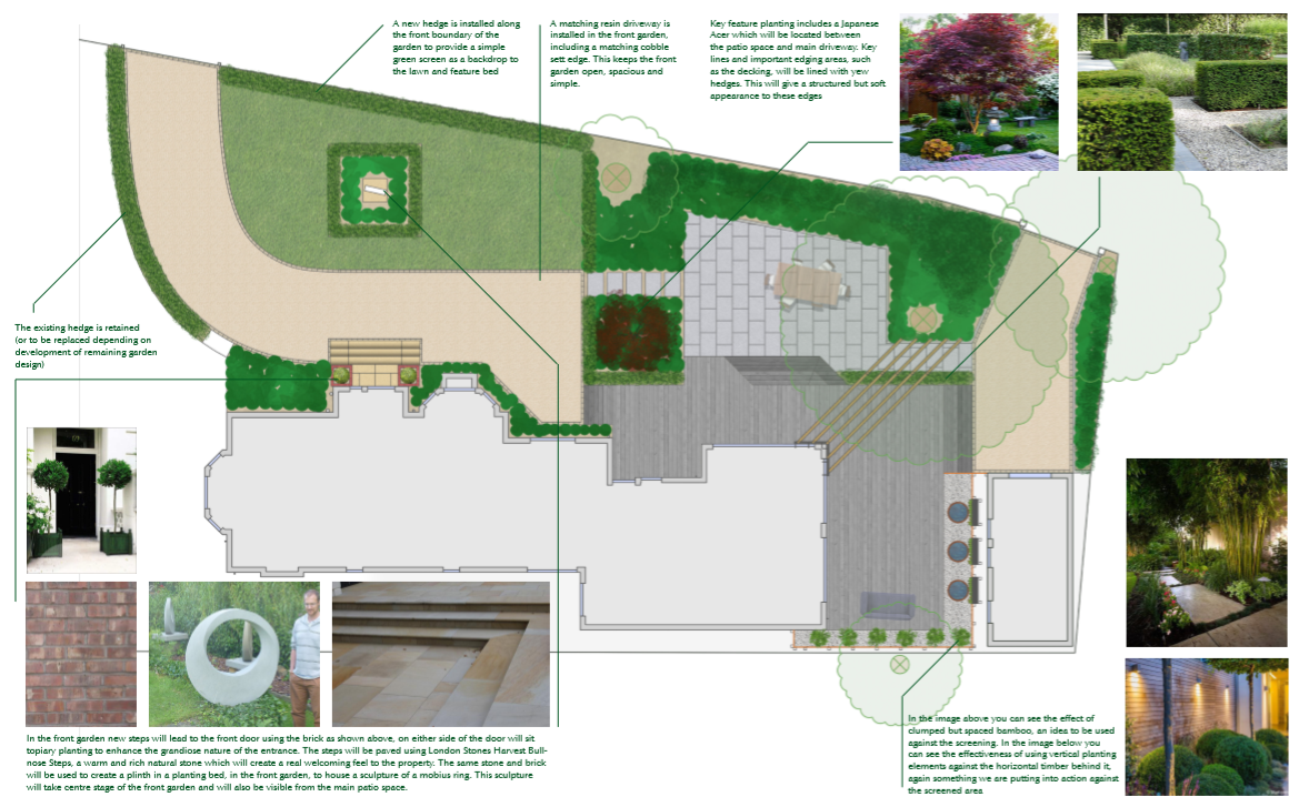 Modern garden layout, Alderley Edge by Dreamscape Gardens